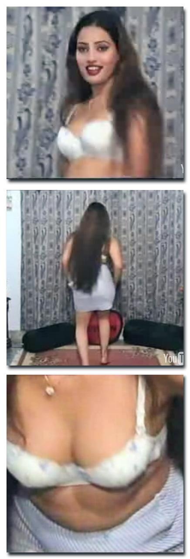 Pakistani mujra - girl dancing in white bra and a short skirt